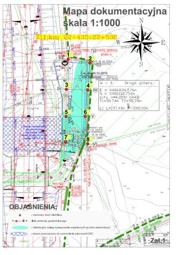 mapa dokumentacyjna 1:1000